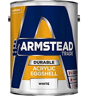 Armstead Trade Acrylic Eggshell Paint White 5 Litres