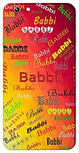 Babbi (Popular Girl Name) Name & Sign Printed All over customize & Personalized!! Protective back cover for your Smart Phone : Moto G-4-Plus