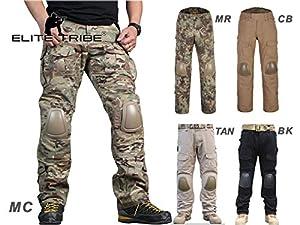 Airsoft Chasse Pantalon de combat tactique Gen2 Pantalon avec genouillères