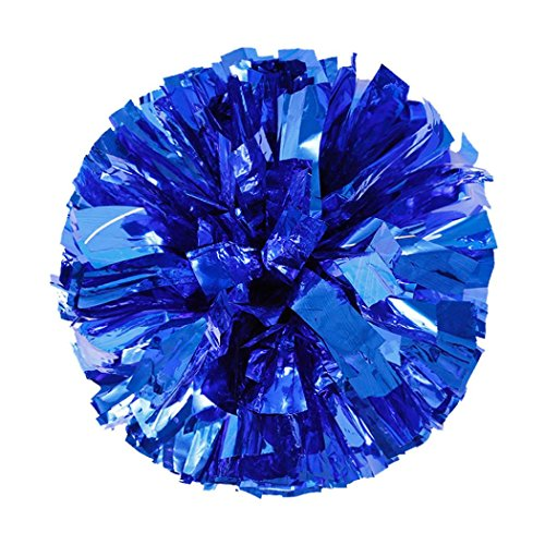 wuayi Metallic Folie und Kunststoff Ring Handheld Cheer Poms Sport Cheerleading Party Decor (Blau) (Candy-wrapper-schmuck)