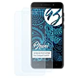 Bruni Schutzfolie für Coolpad Cool S1 Folie, glasklare Bildschirmschutzfolie (2X)