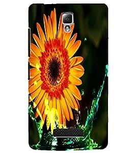PrintDhaba Flower D-4375 Back Case Cover for LENOVO A2010 (Multi-Coloured)