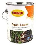 Pigrol Aqua Lasur 2,5L lichtweiss umweltfreundliche Holzlasur für innen und aussen