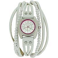 Kahuna Donna Analogico moda cinturino PU bianco Multi Perizoma AKLS-1013L