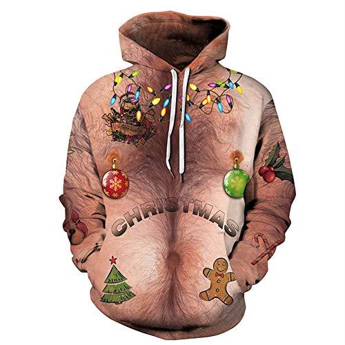 yanghuakeshangmaoyouxiangong Weihnachtsbaum 3D Druckte Mit Kapuze Strickjacke, Liebhaber Pullover Baseball Uniform