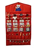 Kuber Industries Cotton Make up Wall Hanging,Red