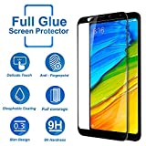 #2: [PACK OF 2] own shopTM Xiaomi Redmi Note 5 Tempered Glass Screen Protector Anti-Fingerprint [9H Hardness] Edge-to-Edge Full Glue Tempered Glass for Redmi Note 5 Easy Installation [Black]