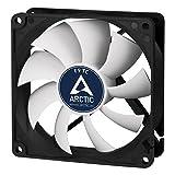 ARCTIC F9 TC - Temperaturgesteuerter 92 mm Gehäuselüfter | Standard Case Fan | Temperatursensor reguliert RPM | Push- oder Pull-Konfiguration