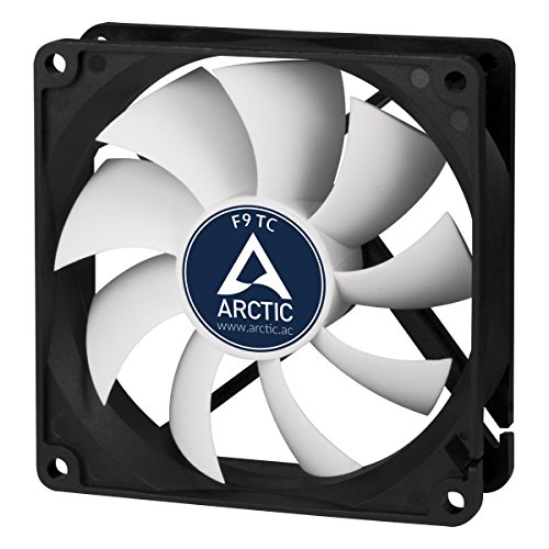 ARCTIC F9 TC - Temperatura Controllata 92 mm Ventilatore | Ventilatore Portatile Standard | Sensore Temperatura RPM | Configurazione Push Pull