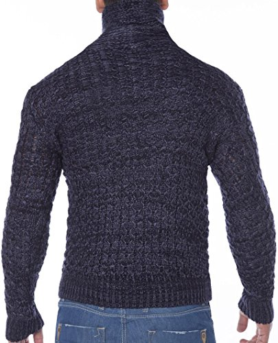 Red Bridge Herren Zipped Sweatshirt Strick- Pullover Strickpullover Indigo Indigo