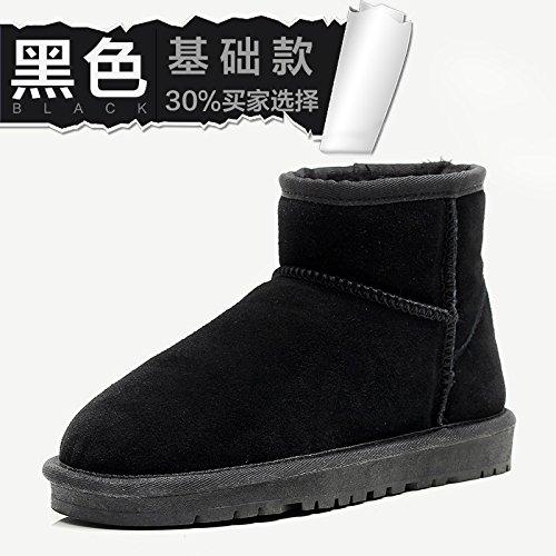 FLYRCX Il Winter Snow Boots e cashmere lady scivoloso spessore impermeabile scarpe caldo D