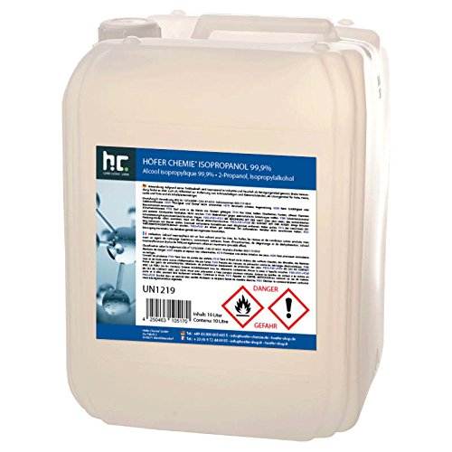 2 x 10 L Isopropanol 99,9% IPA von Höfer Chemie frisch abgefüllt im handlichen 10 L Kanister - perfekt als Lösungsmittel und Fettlöser geeignet