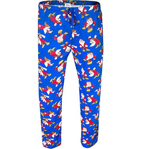 Herren Disney Grumpy Charakter Lounge Pants Pyjama PJ Hose Hose Nachtwäsche TV Film Cartoon Geschenk Gr. S,  - Grumpy (100% Grumpy Print (Adult Disney Cartoon)