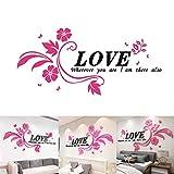 JUSTDOLIFE Wand Aufkleber 3D Dekorative Blume Acryl Aufkleber Wand Kunst Dekor für Hochzeit