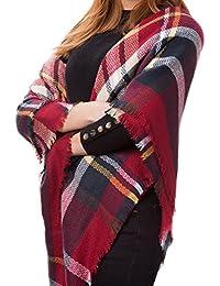 Atmoko Écharpe Châle Plaid Cachemire Hiver Automne Printemps en Tricot Laine  Tissu Glands à la Mode pour Femme Fille Homme Garçon,… eff4dc18e06