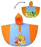 Unbekannt Regenponcho / Regencape -  Biene Maja  - Gr. 128 - 140 - Circa 6 bis 8 Jahre - für Kinder - Jungen Mädchen - Bienen Tiere Fahrrad / Regen Poncho - Regenmant..