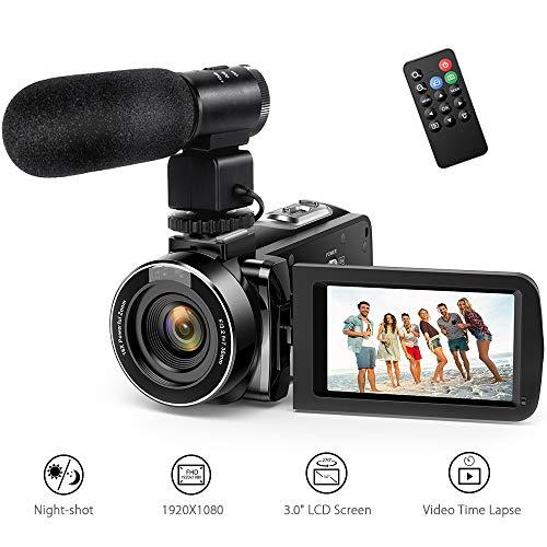 Videocamera andoer videocamere digitale full hd 16x zoom digitale schermo lcd 3.0 24mp visione notturna scarpa calda con microfono standard