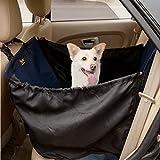Ondoing Autoschondecke mit Seitenschutz für Hunde Rücksitz 132*56cm Dunkelblau