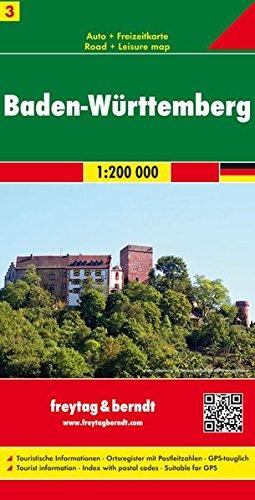Baden, Württemberg mapa de cerreteras. Escala 1:200.000. Freytag & Berndt.: Germany Road Map (Auto karte) por VV.AA.