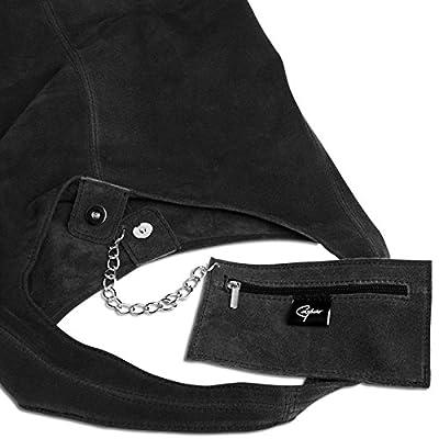 CASPAR TL767 Vintage Bolso de Hombro para Mujer / Bolso de Bandolera de Piel de Ante