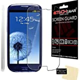TECHGEAR® **PACK OF 3** - ANTI GLARE / MATTE Screen Protector Guards with cleaning cloth for Samsung Galaxy S3 i9300