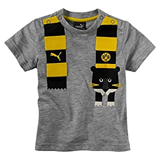 Puma Baby BVB Minicats Graphic T-Shirt, hellgrau, 68