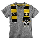 Puma Baby BVB Minicats Graphic T-Shirt, hellgrau, 62