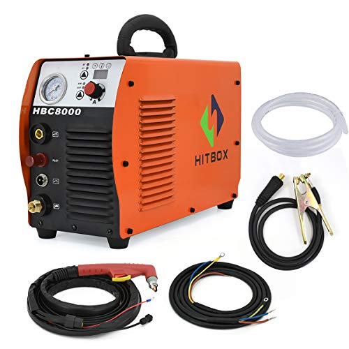 HITBOX Plasma Cutter 60A 220V DC Inverter Air Plasma Schneidemaschine CUT65 40mm Clear Metal Cutter
