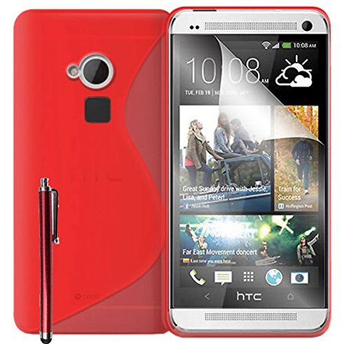 Schutzhülle weich Silikon Gel, Motiv S-Line für HTC One Max/Dual Sim - Max Sim Dual One Htc