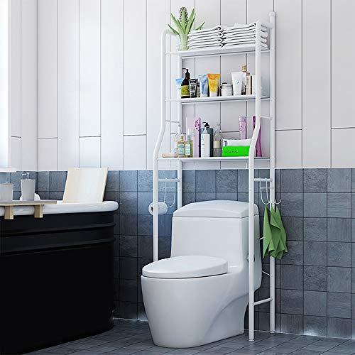 """Aegilmc Metallregale für Badezimmer WC,3-Tier-Regalregale für schwere Schränke Bodenständer 60"""",White"""