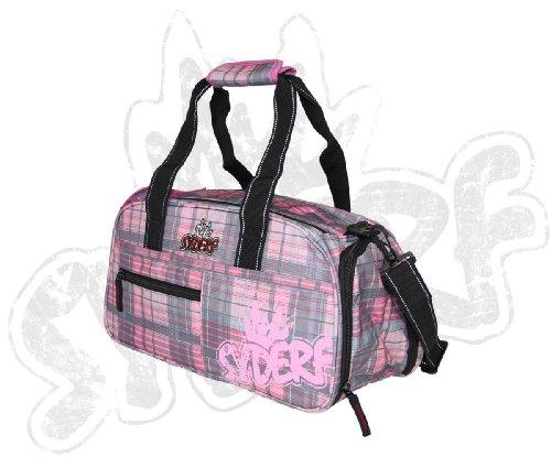 Syderf Sporttasche mit Logo Druck Hellblau (7003-19) Karo Pink