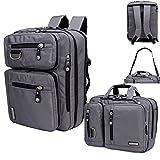 FreeBiz 15.6 pouce Multifonction 3&1 Sac Ordinateur Portable Sac Porte-Documents Laptop Backpack Gaming Laptops pour Dell, Asus.Msi (Gris)