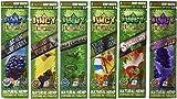 lomila 6er Pack - JUICY JAY Hanf Wrap - Natur TABAK frei - 2 pro Packung (12 Total) - beinhaltet - Blau (schwarz 'n' Blueberry) ,Lila (Trauben Weg Wild),Original (Natur),rot Warnung (strawberryy