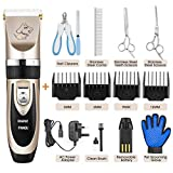 PANGU Dog Clippers,Professional Pet Grooming Kit Low Noise, Rechargeable Pet Shaver Cordless Silent