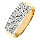 Naava 9 ct Yellow Gold Women's Diamond Ring Bild 1