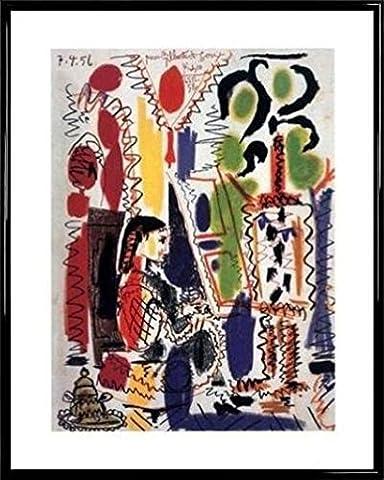 Pablo Picasso Poster Kunstdruck und Kunststoff-Rahmen - L'atelier À Cannes (50 x 40cm)