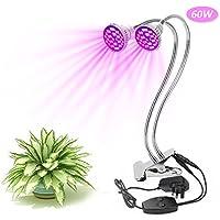 60w dual head led grow lights xjled plant light lamp full spectrum plant light growth lamp