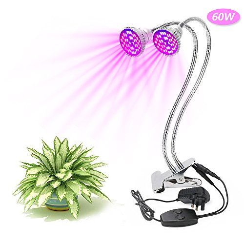 60W Dual Head LED Grow Lights XJ...