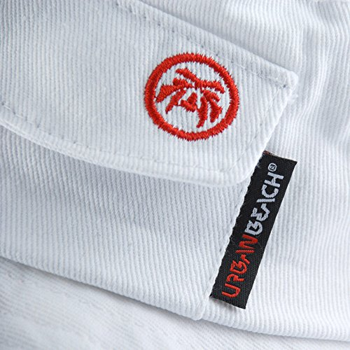 Urban-Beach-Velcro-Pocket-Mens-Bucket-Hat-White