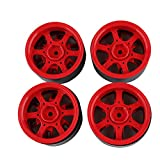 Quaan 4Pcs 1.9 Inch 120mm Rubber Tires Tire with Metal Wheel Rim Set for 1/10 Traxxas TRX-4 SCX10 RC4 D90 RC Crawler Car Part