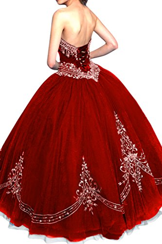 Gorgeous Bride Elegant Lang Traegerlos A-Linie Satin Tuell Applikation Abendkleider Ballkleider Festkleider Blau