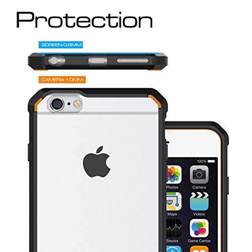 Meimeiwu Anti shock Cover TPU Soft Bumper Case + Transparente Acrylic Custodia Per iPhone 6 6S Plus - Verde Nero