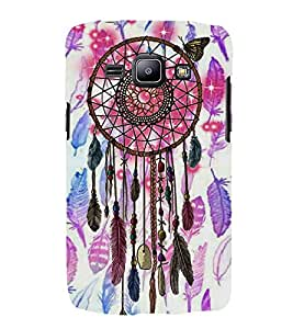 HiFi Designer Phone Back Case Cover Samsung Galaxy J1 (2015) :: Samsung Galaxy J1 4G (2015) :: Samsung Galaxy J1 4G Duos :: Samsung Galaxy J1 J100F J100Fn J100H J100H/Dd J100H/Ds J100M J100Mu ( Tribal Good Luck )