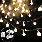 B-right BR-BQ-NB-1, B-right 40 LEDs Globe Lichterkette, LED lichterkette warmweiß, Globe String Licht Sternenlicht, Innen- und Außen Deko Glühbirne, Weihnachtsbeleuchtung für Weihnachten, Hochzeit, Party, Weihnachtsbaum
