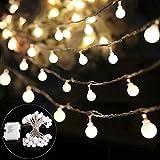 B-right 40 LEDs Globe Lichterkette, LED lichterkette warmweiß, Globe String Licht Sternenlicht, Innen- und Außen Deko Glühbirne, Weihnachtsbeleuchtung für Weihnachten / Hochzeit / Party/Weihnachtsbaum.