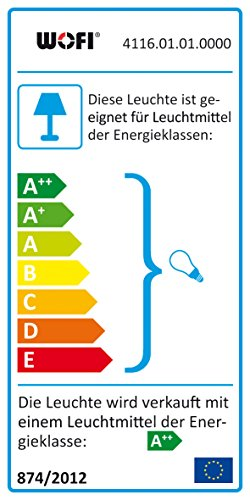WOFI Wandleuchte und LED-Wandspot 4116.01.01.0000