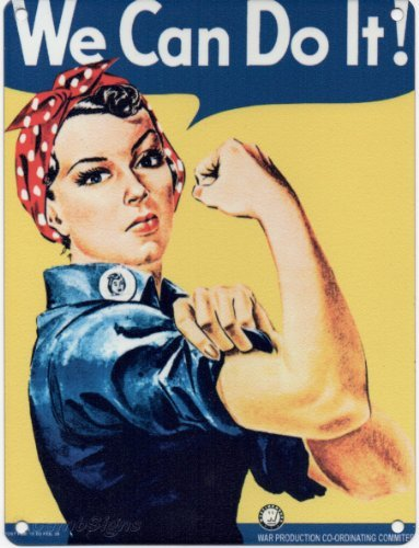 WE CAN DO IT METAL STEEL ADVERTISING WALL SIGN