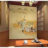 Aufkleber Wandaufkleber Hintergrundbildtuya Kunst Wandbild Japanischen Stil Wandbild Schönes Mädchen Bild Wohnzimmer Flur Hintergrund Dekoration Wand Für Tapeten, 200 * 140Cm