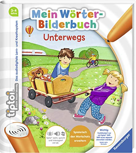 tiptoi® Mein Wörter-Bilderbuch Unterwegs (Lange-bett-satz)