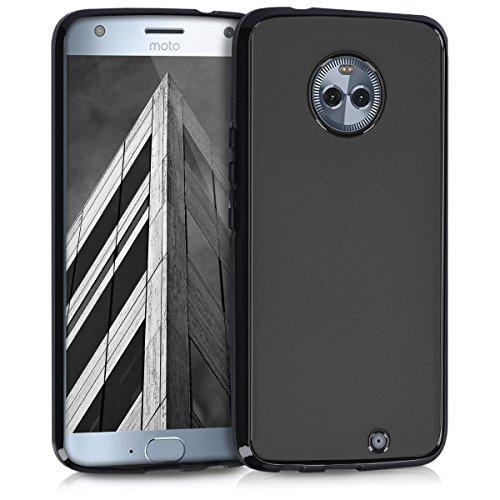 kwmobile Coque Motorola Moto X4 - Coque pour Motorola Moto X4 - Housse de téléphone en silicone noir mat
